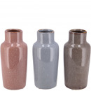 Keramik Flasche Foreo mini, 3 Farben, D8cm, H18cm,